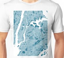 New York City Map Unisex T-Shirt
