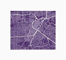 Houston Map - Dark Purple Unisex T-Shirt