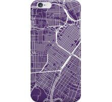 Houston Map - Dark Purple iPhone Case/Skin