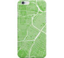 Houston Map - Light Green iPhone Case/Skin