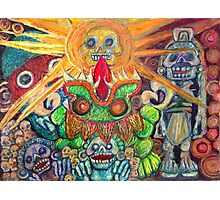 Ancient Aztec Gods of the Underworld Mictlan Photographic Print