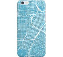 Houston Map - Baby Blue iPhone Case/Skin