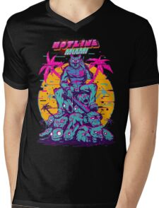 Hotline Miami Mens V-Neck T-Shirt