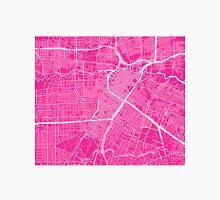 Houston Map - Hot Pink Unisex T-Shirt