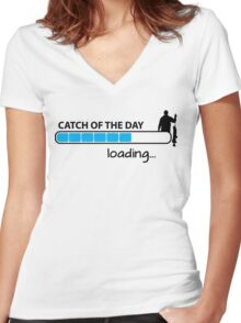 Catch of the day - loading... Women's Fitted V-Neck T-Shirt