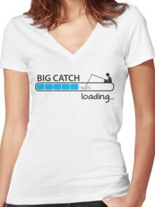 Big catch - loading... Women's Fitted V-Neck T-Shirt