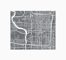 Indianapolis Map - Grey Unisex T-Shirt