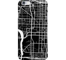 Indianapolis Map - Black iPhone Case/Skin