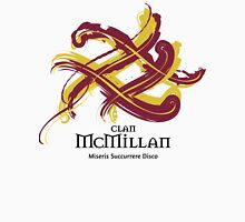 Clan McMillan - Prefer your gift on Black/White, let us know at info@tangledtartan.com Unisex T-Shirt