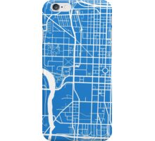 Indianapolis Map - Light Blue iPhone Case/Skin