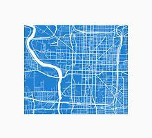 Indianapolis Map - Light Blue Unisex T-Shirt