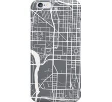 Indianapolis Map - Grey iPhone Case/Skin