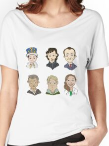 Sherlock Holmes cast Women's Relaxed Fit T-Shirt