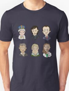 Sherlock Holmes cast Unisex T-Shirt