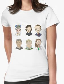 Sherlock Holmes cast Womens Fitted T-Shirt