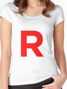 Team Rocket Pokemon Logo Women's Fitted Scoop T-Shirt
