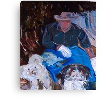 A man and his dogs . . . Melbourne, Vic, Australia Canvas Print