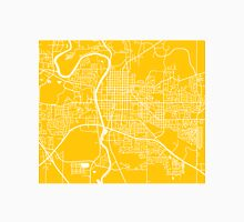Iowa City Map - Yellow Unisex T-Shirt
