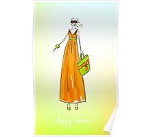 Illustration of a girl Poster