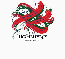 Clan McGillivray - Prefer your gift on Black/White, let us know at info@tangledtartan.com Unisex T-Shirt