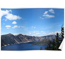 Crater Lake And Wizard Island Poster