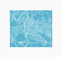 Iowa City Map - Baby Blue Unisex T-Shirt