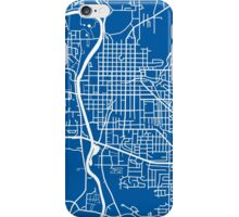 Iowa City Map - Deep Blue iPhone Case/Skin
