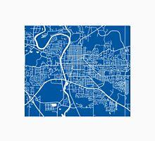 Iowa City Map - Deep Blue Unisex T-Shirt