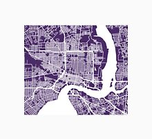 Jacksonville Map - Dark Purple Unisex T-Shirt