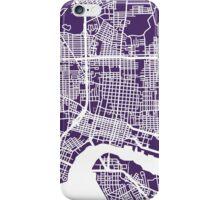 Jacksonville Map - Dark Purple iPhone Case/Skin