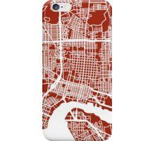 Jacksonville Map - Dark Red iPhone Case/Skin