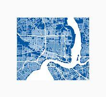 Jacksonville Map - Deep Blue Unisex T-Shirt