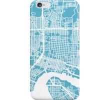Jacksonville Map - Baby Blue iPhone Case/Skin