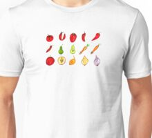 Fruits and Vegetables Art Unisex T-Shirt