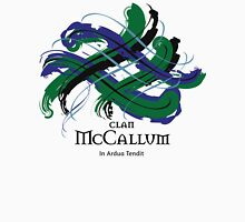Clan McCallum - Prefer your gift on Black/White, let us know at info@tangledtartan.com Unisex T-Shirt