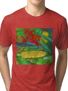 RainbowConfetti Farmers Market Corn on the Cob Tri-blend T-Shirt