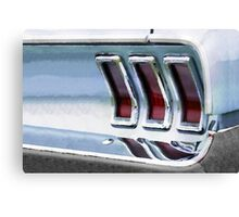 Vintage Car Watercolor Canvas Print
