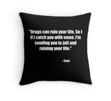 Cops Throw Pillow