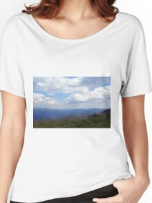 Beautiful natural scenery with mountains and cloudy sky. Women's Relaxed Fit T-Shirt