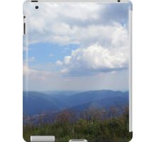Beautiful natural scenery with mountains and cloudy sky. iPad Case/Skin