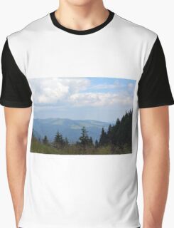 Beautiful natural scenery with mountains and cloudy sky. Graphic T-Shirt