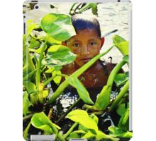 Boy Swimming in Cambodia iPad Case/Skin