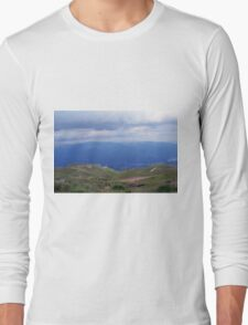 Beautiful natural scenery with mountains and cloudy sky. Long Sleeve T-Shirt