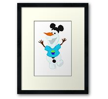 Olaf in Little Green Men Shirt  Framed Print