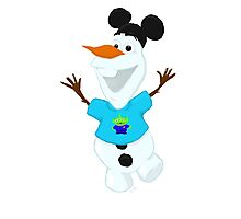 Olaf in Little Green Men Shirt  Photographic Print