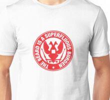 The beard is a burder - RED Unisex T-Shirt