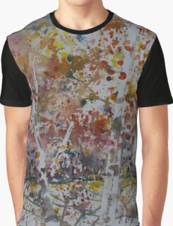 Birch Trees In Fall Graphic T-Shirt