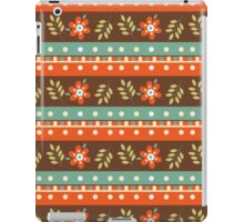 Country Fall Flowers and Stripes iPad Case/Skin