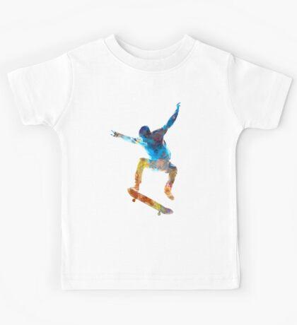 Man skateboard 01 in watercolor Kids Tee