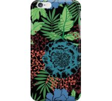 Blue floral. Flower garden. Tropical blue. iPhone Case/Skin